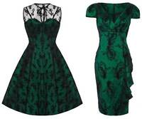 New Emerald Green Lace Voodoo Vixen 50's Rockabilly Vintage Cocktail Party Dress
