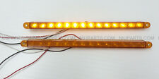 "12"" 14 LED Light Strip Amber for Kenworth Peterbilt Freightliner FLD Pair"