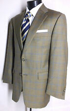 Burberry's London Brown Windowpane Sport Jacket Made in England Size 38S