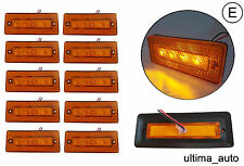 10 12/24v LED amber orange side marker lights lamps trailer truck lorry E-marked