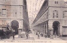 CHAMBERY 82 LL rue et colonne de boigne vues place saint-léger vélo écrite 1913