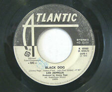 "LED ZEPPELIN ""BLACK DOG""  rare 7' Italy promo ""MC"" white label"