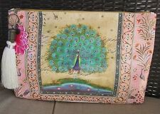 New Starlet Peacock Tapestry Large Travel Makeup Bag Cosmetic Papaya Art Clutch