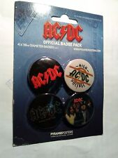 AC/DC official badge pack back in black highway to hell high voltage