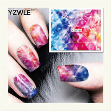 YZW-160 FULL NAIL ART STICKERS DIY WATER TRANSFER WRAP MANICURE DECAL GRAPHICS