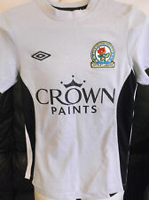 Blackburn Rovers FC Grey Away Shirt. Size Medium Boys.