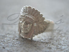 Indian Face Ring Hand made on Sterling Silver .925