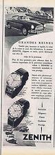 PUBLICITE ADVERTISING 084 1956 ZENITH montre les grandes reines