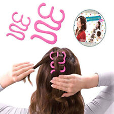 Beauty Girl Magic Pink Hair Tie Twist Braid Tool Holder Clip Style Maker Hairpin