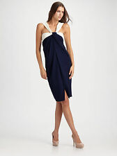 $1995 NWT Donna Karan New York Absolute DRAPED Knot Front Wrap Dress SZ 8/M