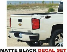 Z71 4x4 Truck Bed Decals, MATTE BLACK (Set) for Chevrolet Silverado