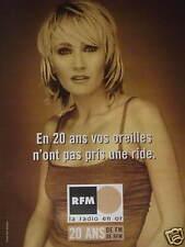 PUBLICITÉ 2001 RFM TV LA RADIO EN OR 20 ANS - PATRICIA KAAS