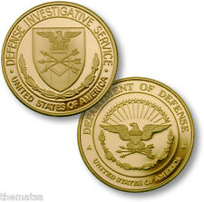 DOD DEPARTMENT OF DEFENSE INVESTIGATIVE SERVICE USA MADE  CHALLENGE COIN