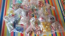beads and jewellery findings x30 job lot bulk craft making christmas gift card