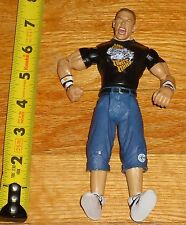 2003 WWF WWE Jakks John Cena Wrestling Figure Black shirt Live Fast Fight Hard