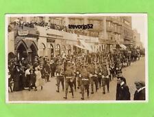 Military Sussex Regiment ?  St Leonards on Sea RP pc used Hastings 1911 Ref B353