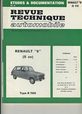 (48B) REVUE TECHNIQUE AUTOMOBILE RENAULT 6 (5 cv) type R 1180