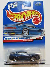 HOT WHEELS 1999 FIRST EDITIONS #2/26  '99 MUSTANG  BLUE W/ TAN INTERIOR
