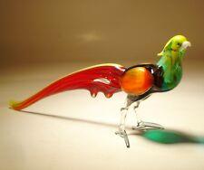 """Blown Glass Figurine  """"Murano"""" Art Bird  Pheasant"""