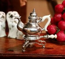 Miniature Dollhouse Artisan Obadiah Fisher Sterling Silver Tea/Coffee Stand Pot