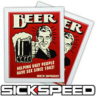 2PC BEER DRINKING UGLY PEOPLE VINYL STICKER DECAL STICKERBOMB BOMB FUNNY LOT C