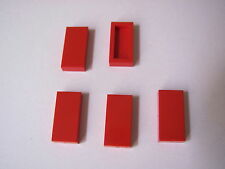 LEGO 3069a @@ TILE 1x2 (x5) @@ Red 260 262 274 291 293 295 851