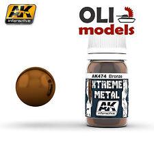 Xtreme Metal Bronze Metallic  Paint 30ml Bottle - AK Interactive 474