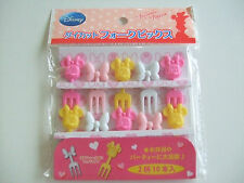 Disney Minnie Mouse Food Fork Picks Japanese Bento Accessories/10pcs