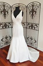 K15 PRIVATE COLLECTION 18861 SZ 14 IVORY SILVER  FORMAL WEDDING GOWN DRESS