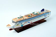 Norwegian Dawn Liberty Statue Artwork Handmade Wooden Cruise Ship Model 40""