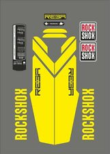 ROCK SHOX REBA FORK DECAL SET YELLOW VERSION