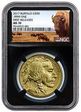 2017 $50 1 oz. Gold Buffalo NGC MS70 FR (Buffalo / Black Core) PRESALE SKU44875