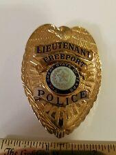Antique Freeport,  Texas Police Badge,  obsolete, hallmarked Entenmann Rovin