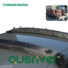 2x Universal Inflatable Soft Roof Racks 80kg Capacity Top Luggage Canoe Carrier