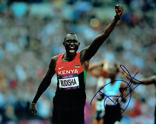 David Lekuta RUDISHA Autograph Signed Photo AFTAL COA London Olympics 2012