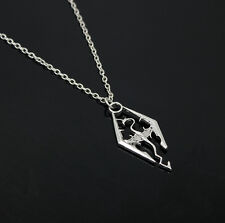 Fashion Cool The Elder Scrolls Logo Skyrim Dragon Pendant Charm Necklace Chain