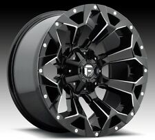 Fuel Assault D576 20x9 5x5.5/5x150 ET1 Gloss Black Wheels Rims (Set of 4)