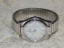 Rare Men's Handsome Vintage SEIKO 7017 8000 Braille Blind Quartz Watch