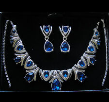 "Avon Blue Deco Collection Necklace and Earring Gift Set  ""New In Box"""