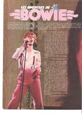 DAVID BOWIE in pink - French magazine PHOTO/ Poster/clipping 11x8 inches