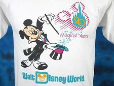 vtg 1991 WALT DISNEY WORLD 20 MAGICAL YEARS MICKEY MOUSE T-Shirt XS cartoon 80s