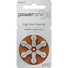 powerone P312 Hearing Aid Battery P 312 Wholesale lot 6 X 1