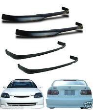2 X 96 97 98 CIVIC 2 4 DR TYPE R PU BLACK ADD-ON FRONT + REAR BUMPER LIP SPOILER