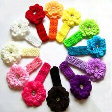 12pcs Cute Girl's Baby Infant Toddler Flower Headband Hair Bow Band Accessories