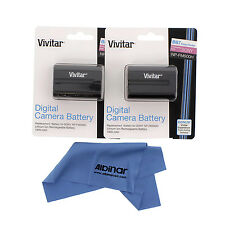 2x Vivitar NP-FM500H Battery for Sony Alpha SLT A57 A58 A65 A77 II A99 A580 A700