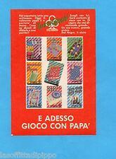 TOP989-PUBBLICITA'/ADVERTISING-1989- DAL NEGRO - TUTTI I GIOCHI