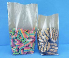 100 COUNT LOT OF HARD BOTTOM CELLO KRAFT BACKED CANDY COOKIE GIFT BAGS 120X260