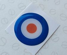 27mm CLASSIC MINI TARGET DOMED GEAR STICKER AUSTIN MINI COOPER MORRIS ROVER