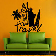 Travel Wall Decals Famous World Cities Decal NYC London Sticker Home Decor kk868