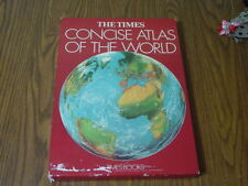 THE TIMES CONCISE ATLAS OF THE WORLD 1979 WITH CASE